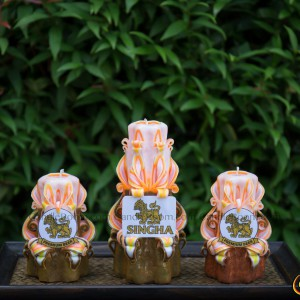 Handmade carved candles set 11