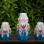 carved candles Kingdom of Thailand