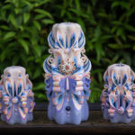 carved candles decor shells